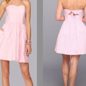 Strapless Pink Seersucker Lilly Pulitzer Dress